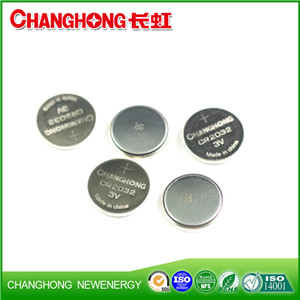 Changhong High Quality CR2032 Button Battery CR2032 3v Cell Battery
