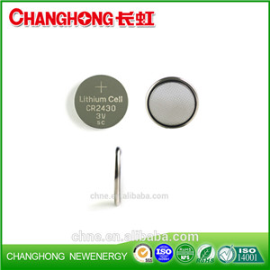 Changhong Hot Sale Coin Cell CR2430 3v 280Mah Lithium Battery