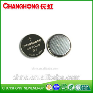 Changhong 3v Button Cell Batteries CR2025 150Mah For Car Keys