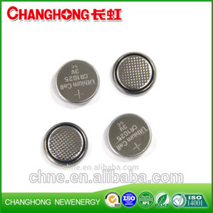 Changhong 3v Lithium Coin Cell CR1025 Battery