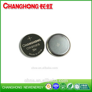 Changhong Hot Sale 3v Lithium Coin Cell CR2025 3v 150Mah Lithium Battery Use For