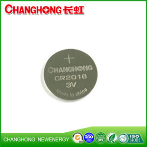 Changhong High Quality Lithium Battery CR2016 3v Cell Battery