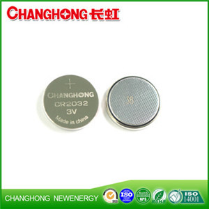 Changhong High Quality Button Battery CR2032 3v Cell Battery