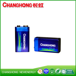 Changhong CE High Quality 6LR61 9V Ultra Alkaline Battery Dry Battery