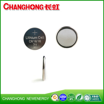 Changhong High Quality Lithium Battery CR1616 3v Cell Battery